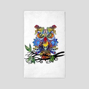 wild owl 3'x5' Area Rug
