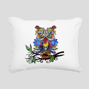 wild owl Rectangular Canvas Pillow