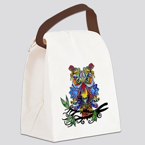 wild owl Canvas Lunch Bag