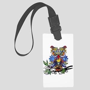 wild owl Luggage Tag