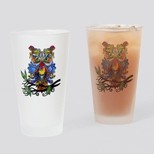 wild owl Drinking Glass