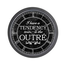 Tendency Towards The Outre Wall Clock