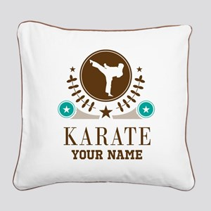 Karate Personalized Square Canvas Pillow