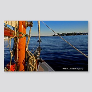 Cape Cod Sailboat Sticker (Rectangle)