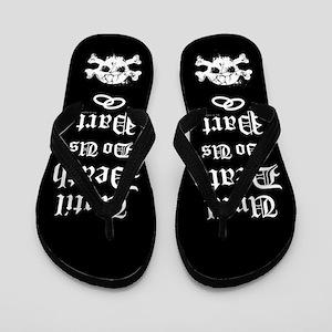 bc06702807085 Goth Wedding Flip Flops - CafePress