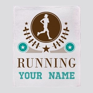 Personalized Running Cross Country Throw Blanket