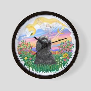 Guardian-Black Cocker Wall Clock