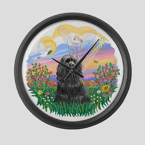 Guardian-Black Cocker Large Wall Clock