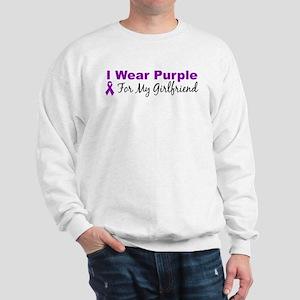 I Wear Purple For My Girlfrie Sweatshirt