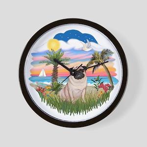 Palms - Fawn Pug 17 Wall Clock