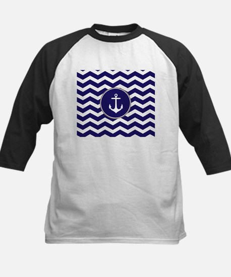 Nautical Anchor Chevron Baseball Jersey