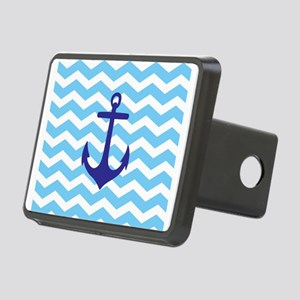 Light blue anchor chevron Rectangular Hitch Cover