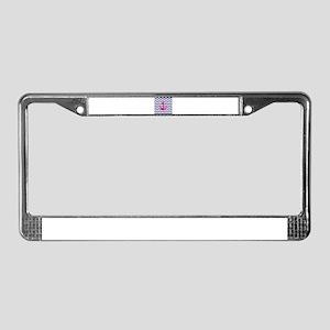 Hot pink anchor blue chevron License Plate Frame