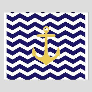 Yellow anchor blue chevron Poster Design