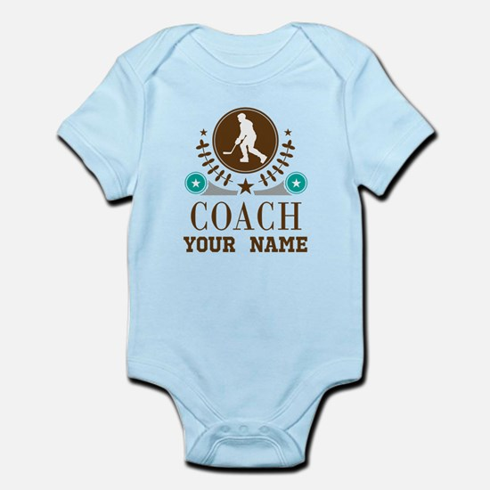 Ice Hockey Coach Personalized Infant Bodysuit