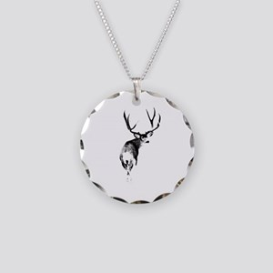 Trophy buck Necklace Circle Charm