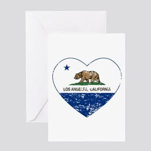 california flag los angeles heart blue distressed