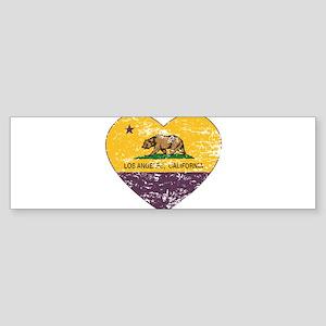 california flag los angeles heart purple distress