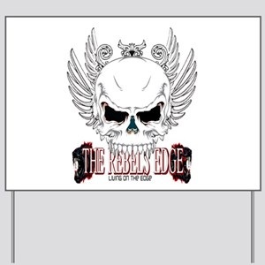 Rebel Skull Wings Yard Sign