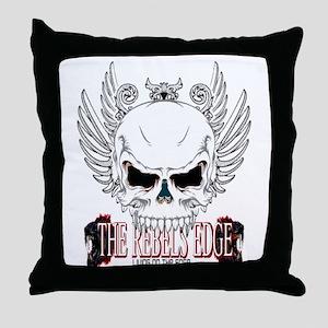Rebel Skull Wings Throw Pillow