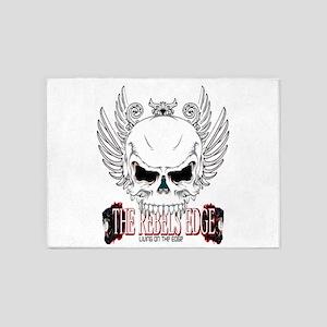 Rebel Skull Wings 5'x7'Area Rug