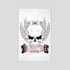 Rebel Skull Wings 3'x5' Area Rug