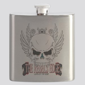 Rebel Skull Wings Flask