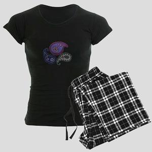 Textured Paisley Women's Dark Pajamas