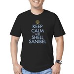 Keep Calm and Shell - Men's Fitted T-Shirt (dark)