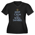Keep Calm and Shell - Women's Plus Size V-Neck Dar