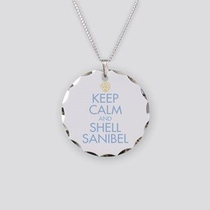 Keep Calm and Shell - Necklace Circle Charm