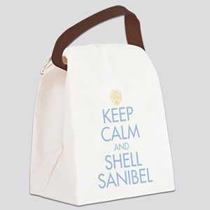 Keep Calm and Shell - Canvas Lunch Bag
