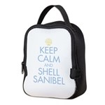 Keep Calm and Shell - Neoprene Lunch Bag