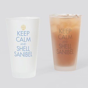 Keep Calm and Shell - Drinking Glass