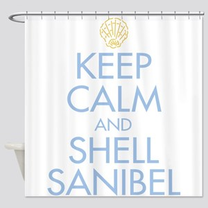 Keep Calm and Shell - Shower Curtain