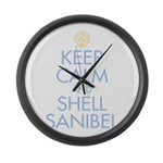 Keep Calm and Shell - Large Wall Clock