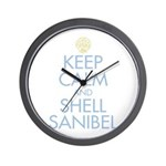 Keep Calm and Shell - Wall Clock