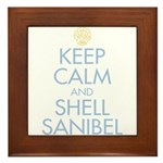 Keep Calm and Shell - Framed Tile
