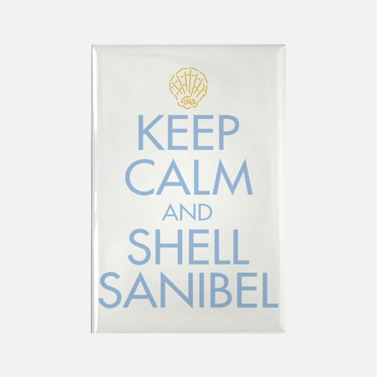Keep Calm and Shell - Rectangle Magnet