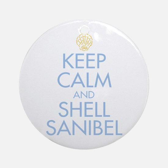 Keep Calm and Shell - Ornament (Round)