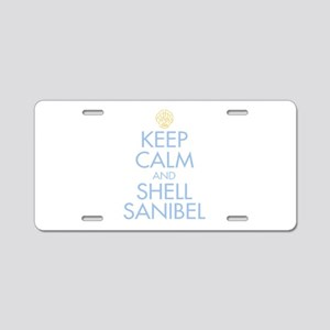 Keep Calm and Shell - Aluminum License Plate