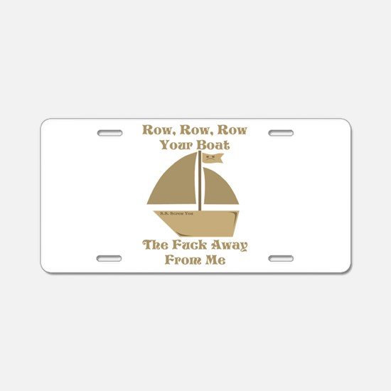 Row your Boat Aluminum License Plate