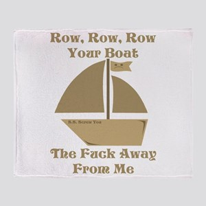Row your Boat Throw Blanket