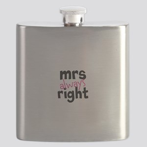 Mrs Always Right part of mr and mrs set Flask