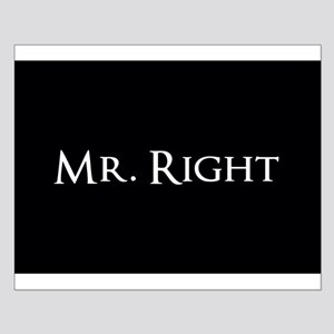 Mr Right part of his and hers set Poster Design