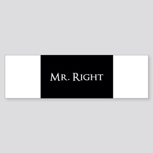 Mr Right part of his and hers set Bumper Sticker