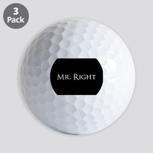 Mr Right part of his and hers set Golf Balls