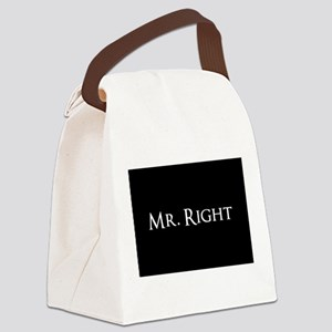 Mr Right part of his and hers set Canvas Lunch Bag