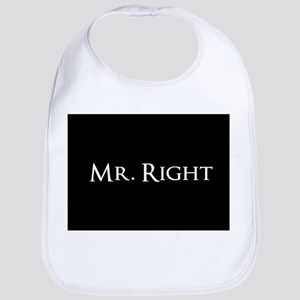 Mr Right part of his and hers set Bib