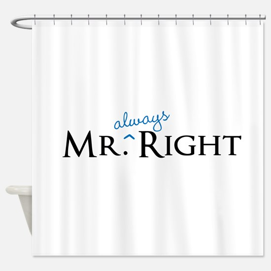 Mr always Right part of his and hers set Shower Cu